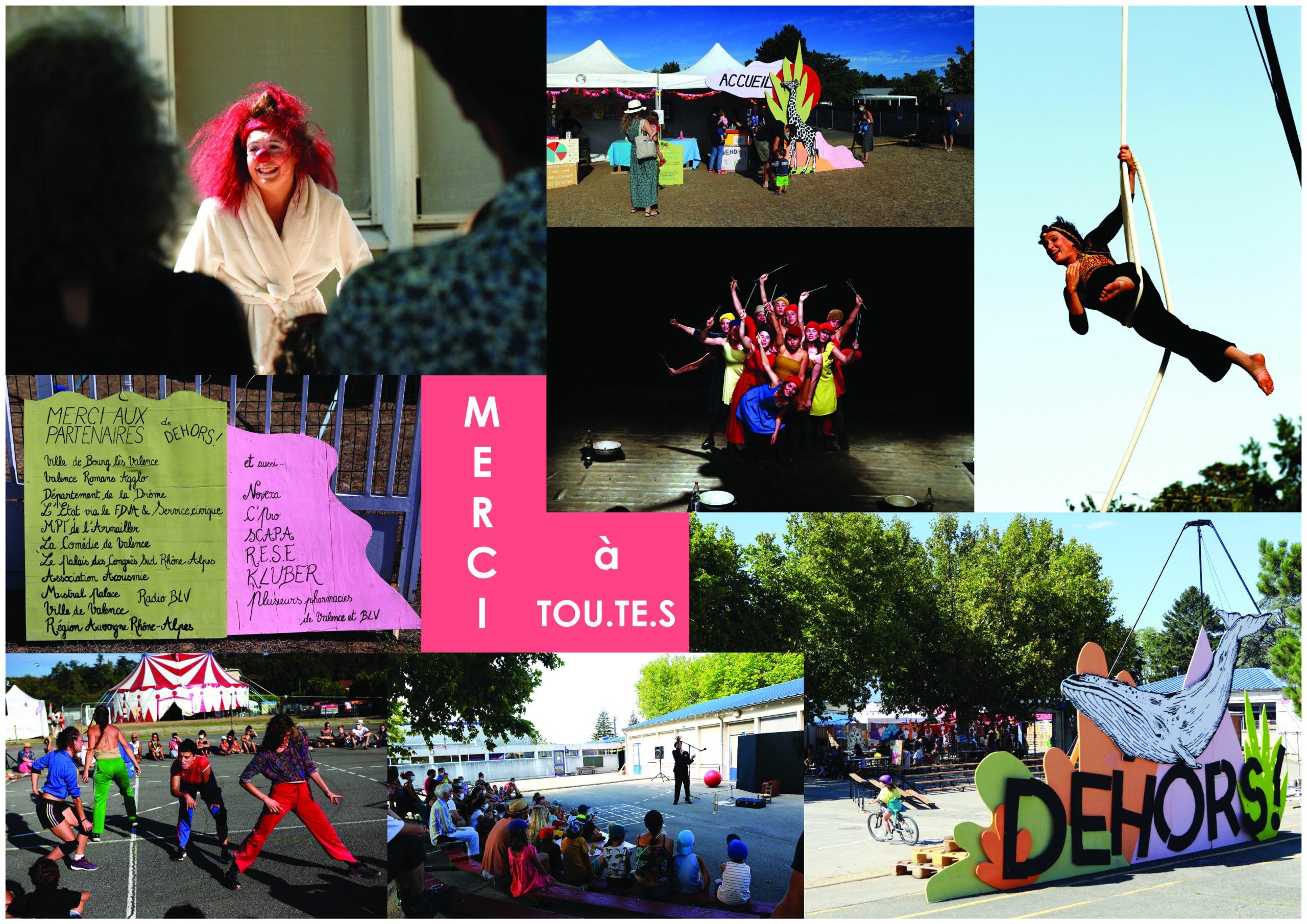 Festival Dehors ! Rencontres de spectacles très vivants, visuel 2020, spectacle dehors !