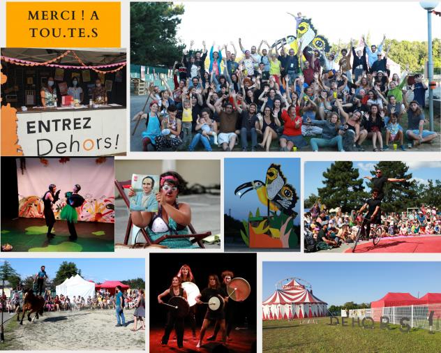 Festival Dehors ! Rencontres de spectacles très vivants, visuel 2021, spectacle dehors !